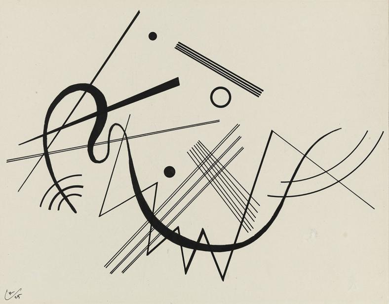 """Kandinsky, Wassily, Untitled (drawing for """"Diagram 17"""")"""