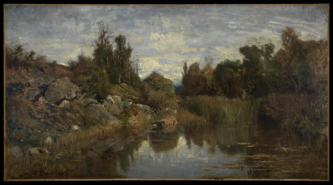 Daubigny, Charles-Francois, The Water's Edge, Optevoz