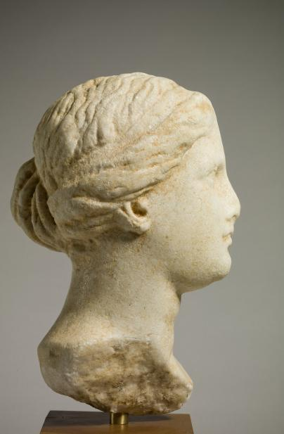 Greek, Head of a woman, possibly Aphrodite