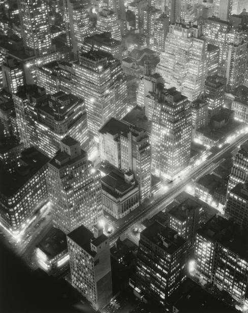 Berenice Abbott, Retrospective: Night View, New York