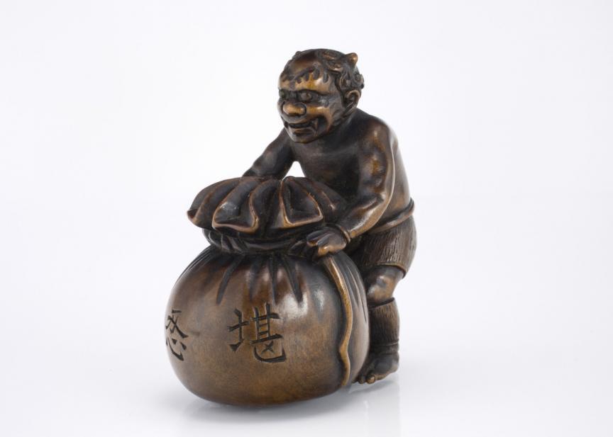 Jusen, Oni tying treasure bag