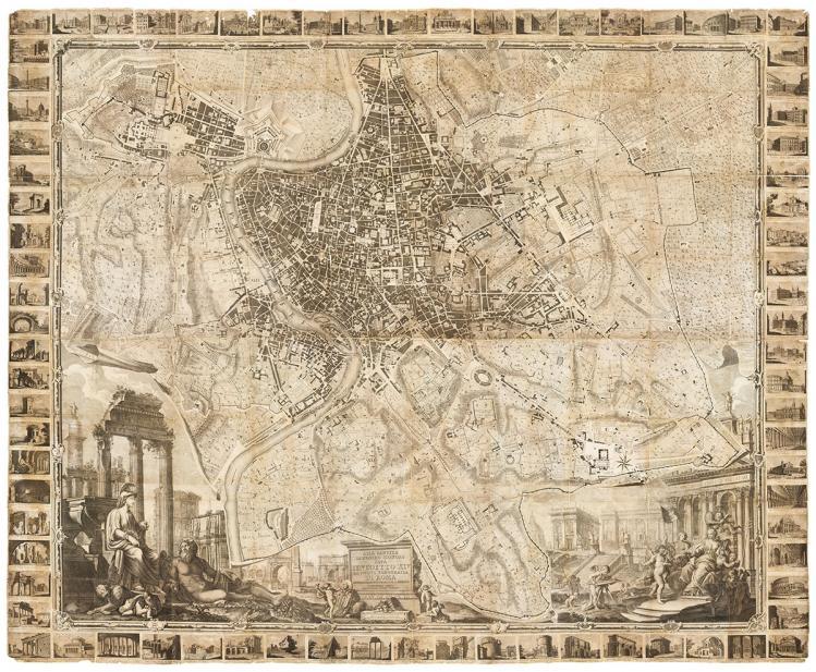Nolli, Giovanni Battista; Pronti, Domenico, Nuova Pianta di Roma