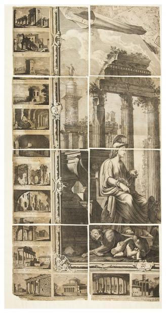 Giovanni Battista; Domenico Pronti, Nuova Pianta di Roma, 1748 Nolli map; 1795 Pronti prints