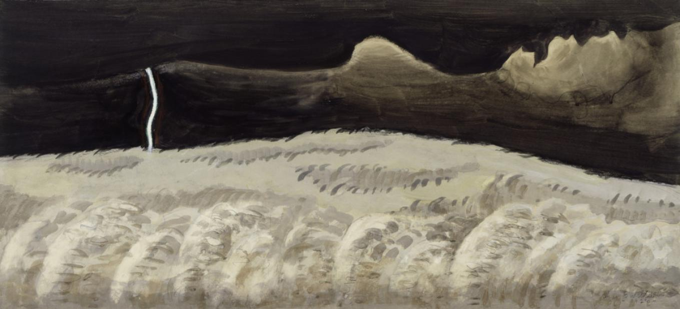 Burchfield, Charles Ephraim, Gray and Black Landscape