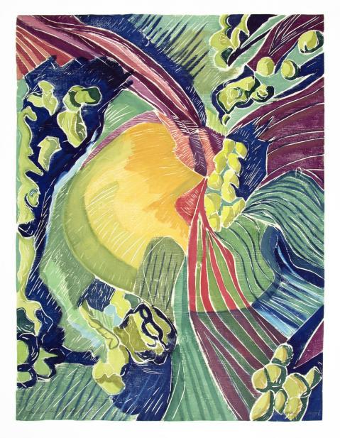 Aline Feldman (American, b. 1928), Hillside Unfurling, 1995