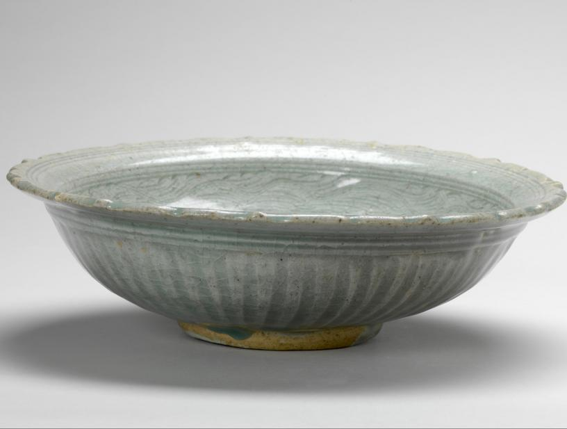 Thai, Dish with incised decoration