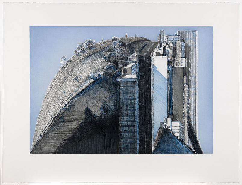 Thiebaud, Wayne, Dark Country, City, from the series Fantasies of San Francisco