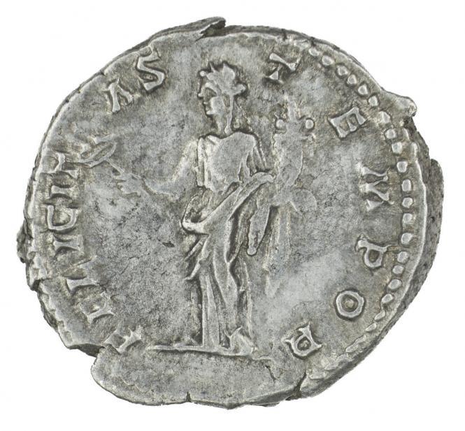 Roman, Denarius of Geta, verso