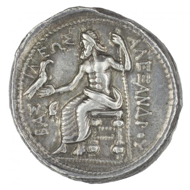 Greek, Drachm of Alexander III, the Great, as Herakles, verso