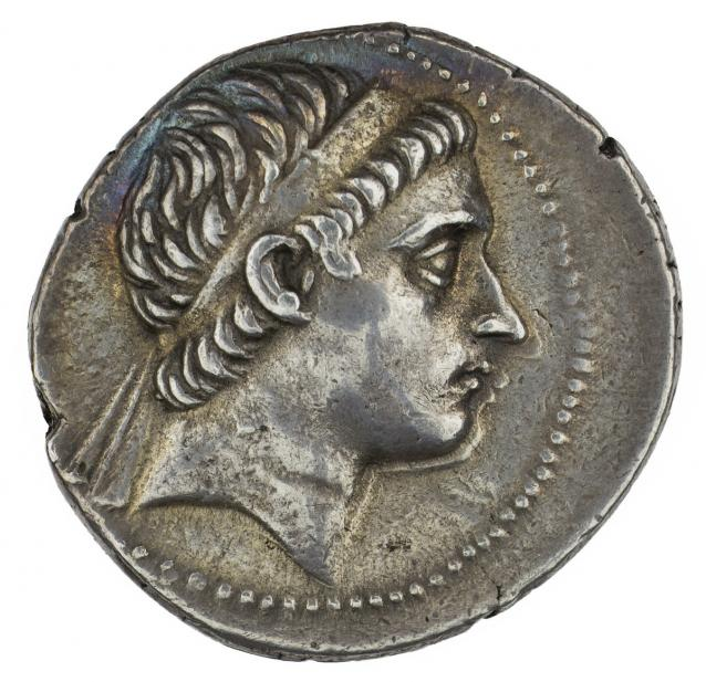 Greek, Tetradrachm of Antiochus II, Theos, recto