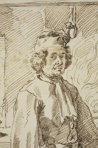 Pierre Leone Ghezzi, Marco Ballarin, Cook, 1707 May 27