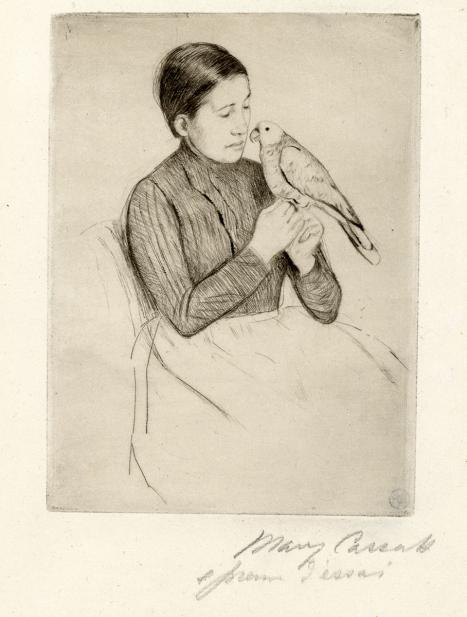 Cassatt, Mary, The Parrot