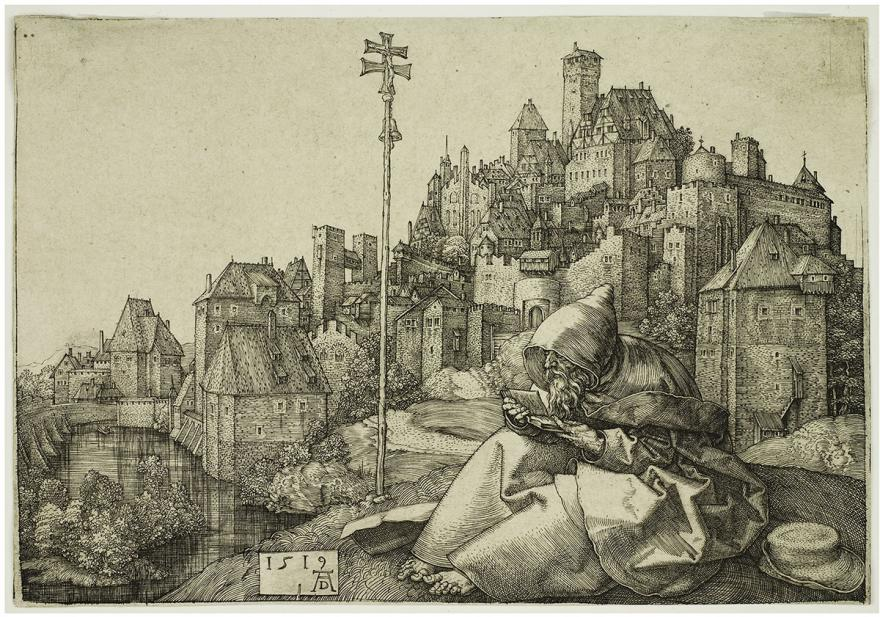 Dürer, Albrecht, Saint Anthony Before a City