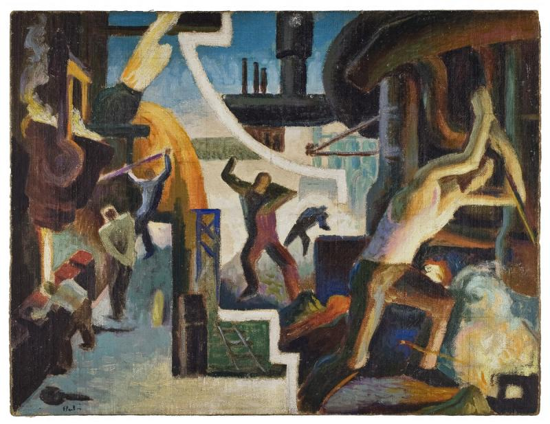 Benton, Thomas Hart, Study for Steel, from America Today