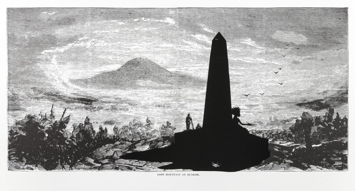 Kara Walker (American, b. 1969), Lost Mountain at Sunrise, from the series Harper's Pictorial History of the Civil War (Annotated), 2005