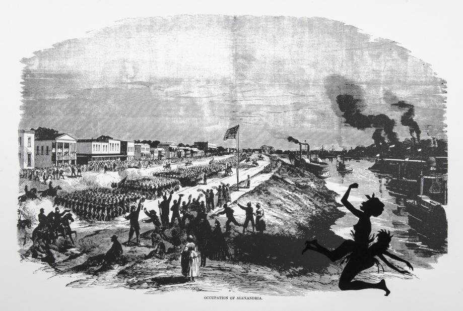 Kara Walker (American, b. 1969), Occupation of Alexandria, from the series Harper's Pictorial History of the Civil War (Annotated), 2005