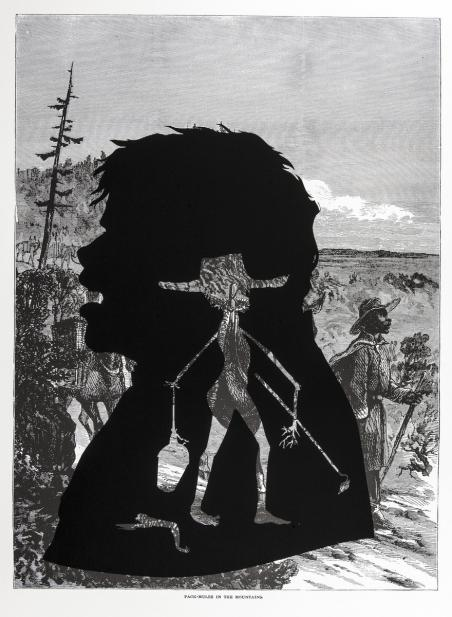 Kara Walker (American, b. 1969), Pack-Mules in the Mountains, from the series Harper's Pictorial History of the Civil War (Annotated), 2005