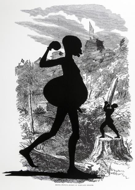 Kara Walker (American, b. 1969), Signal Station, Summit of Maryland Heights, from the series Harper's Pictorial History of the Civil War, 2005