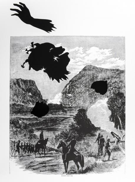 Kara Walker (American, b. 1969), Buzzard's Roost Pass, from the series Harper's Pictorial History of the Civil War (Annotated), 2005