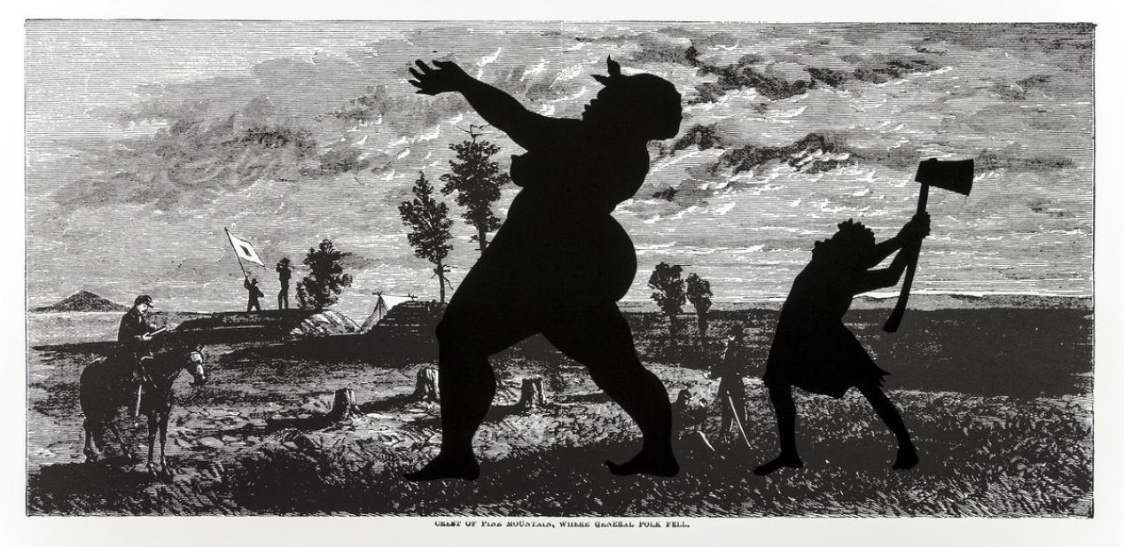 Kara Walker (American, b. 1969), Crest of Pine Mountain, Where General Polk Fell, from the series Harper's Pictorial History of the Civil War (Annotated), 2005