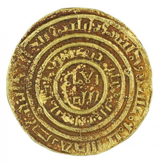 Crusader, Bezant in imitation of a Fatimid dinar of al-Amir