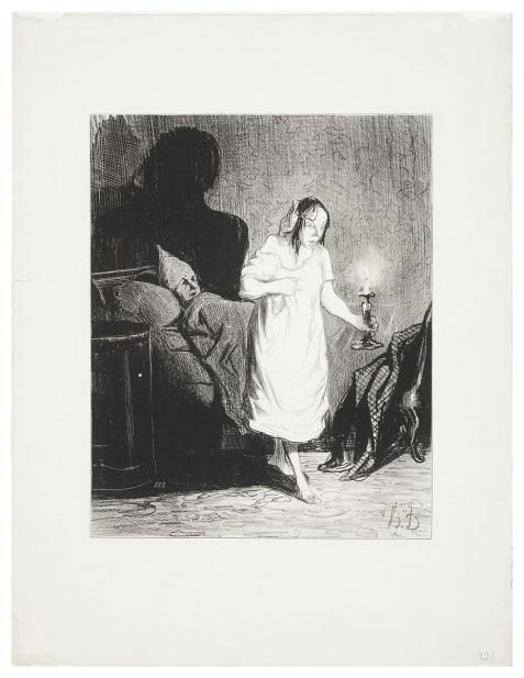 Daumier, Honore,  Les Bas-Bleus: Dis donc, Bichette