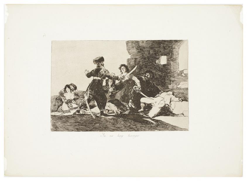Goya, Francisco de, Ya no hay tiempo, plate 19 from the series Los Desastres de la Guerra