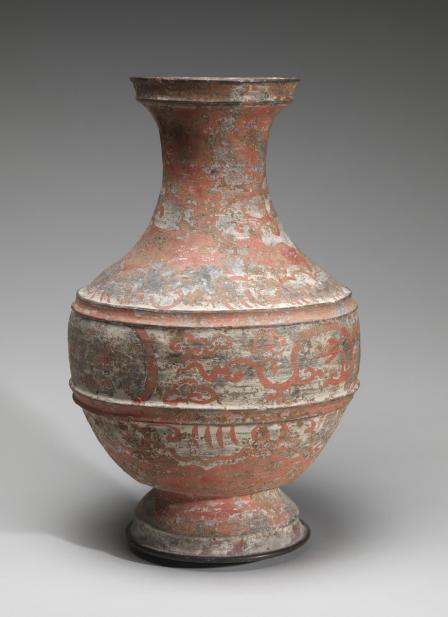 Chinese, Jar (hu) with chariot scene