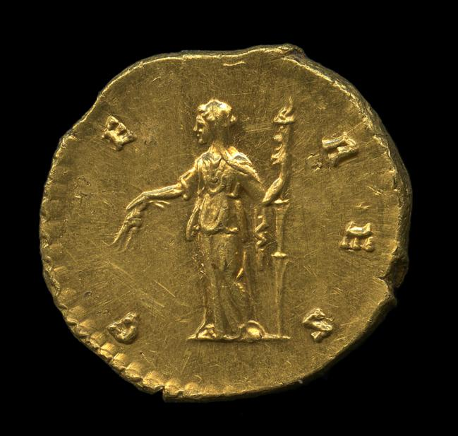 Antoninus Pius (minted under), Aureus of Faustina the Elder, rev.