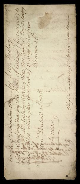 British; Portuguese; Spanish, Bill of Exchange