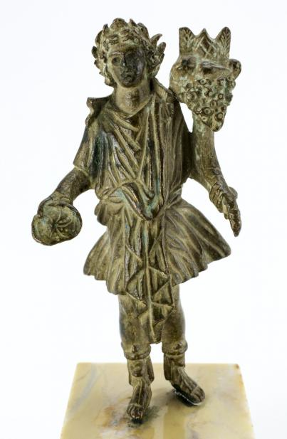 Roman, Lar holding a patera and cornucopia
