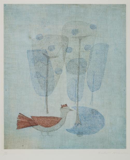 Keiko Minami (Japanese, active France, 1922-2004), L'Oiseau Couronne [The Crowned Bird], ca. 1954-1958