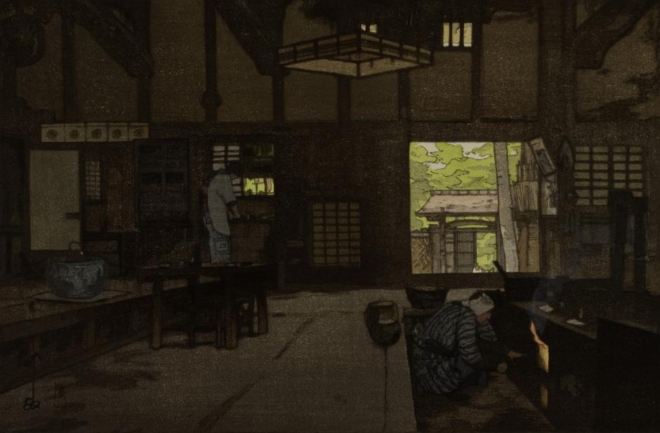 Yoshida Hiroshi (Japanese, 1876-1950), Nōka (Farm House), 1946