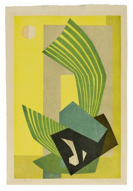 Yoshida Hodaka (Japanese, 1926-1995), Plant, 1952