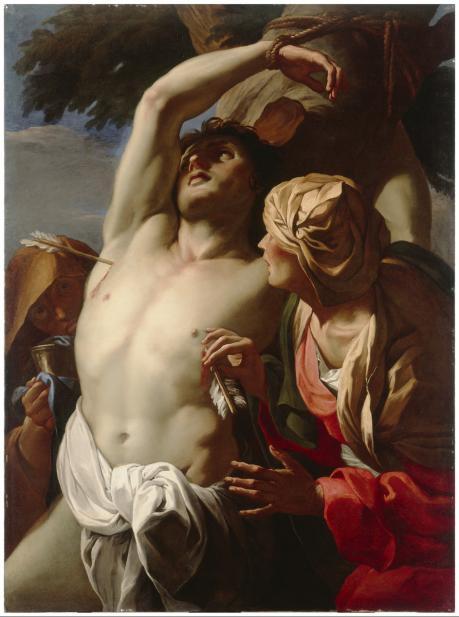 Daniel Seiter (Austrian, 1649-1705), Saint Sebastian Tended by Saint Irene, ca. 1680