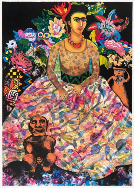 Miriam Schapiro (American, b. Canada, 1923-2015), Frida and Me, 1990
