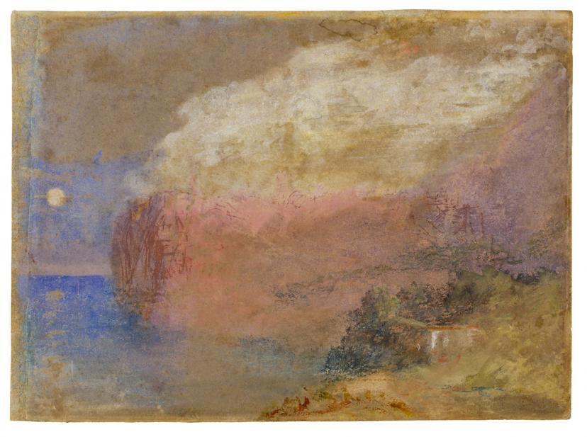Joseph Mallord William Turner (British, 1775-1851), Corsica (?), a wooded headland, ca. 1828