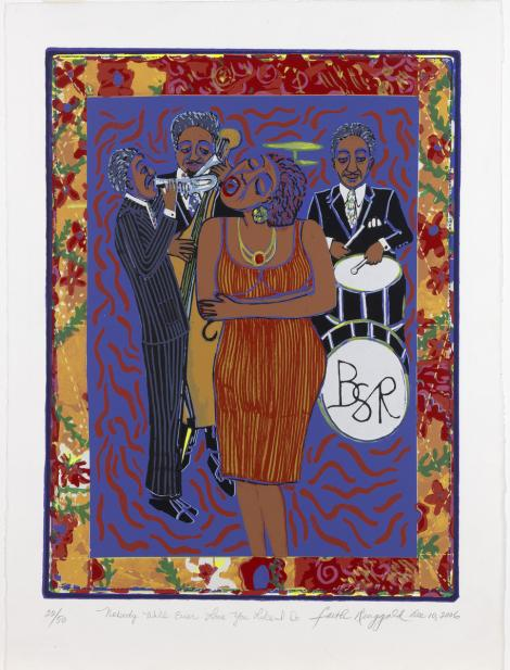 Faith Ringgold (American, b. 1930), Nobody will ever love you like I do, December 10, 2006
