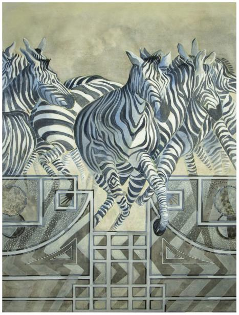 Ellen Lanyon (American, 1926-2013), Zebra, from the series Beyond the Borders