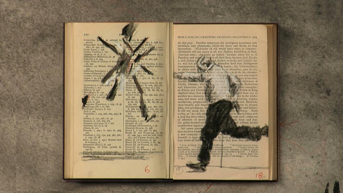 William Kentridge (South African, b. 1955), Tango for Page Turning (detail), 2012-2013