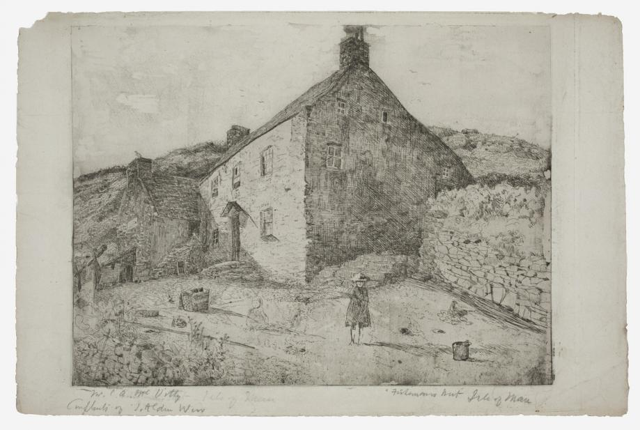 Julian Alden Weir (American, 1852-1919), A Fisherman's Hut-Isle of Man, 1889