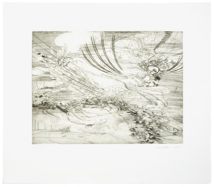 Julie Mehretu (American, Ethiopian, b. 1970), Landscape Allegories (1 of 7), 2004