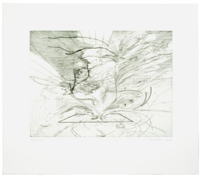 Julie Mehretu (American, Ethiopian, b. 1970), Landscape Allegories (2 of 7), 2004