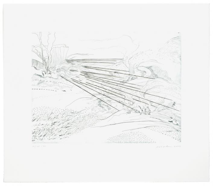 Julie Mehretu (American, Ethiopian, b. 1970), Landscape Allegories (3 of 7), 2004