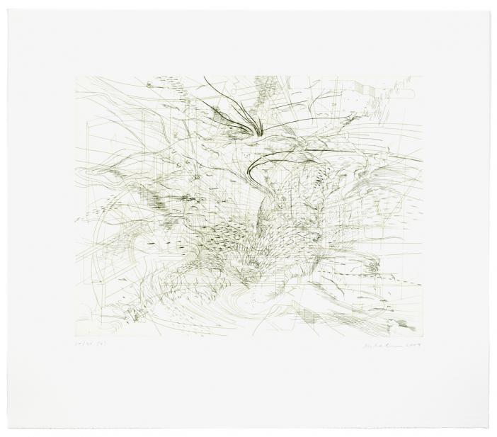 Julie Mehretu (American, Ethiopian, b. 1970), Landscape Allegories (4 of 7), 2004