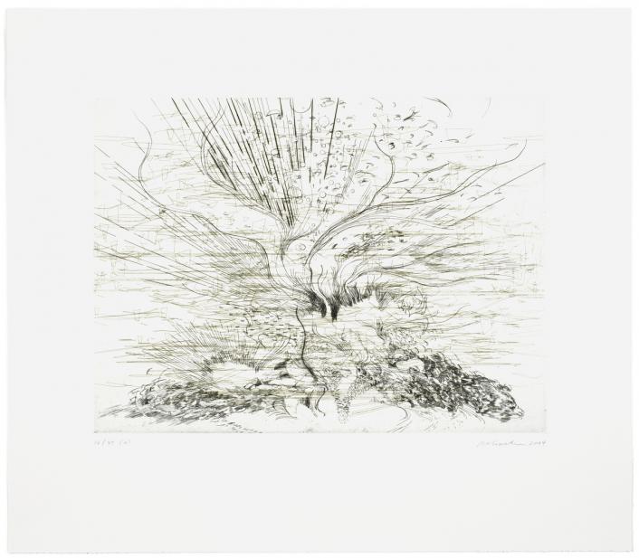 Julie Mehretu (American, Ethiopian, b. 1970), Landscape Allegories (6 of 7), 2004