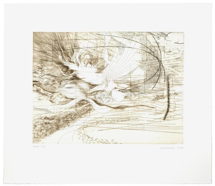 Julie Mehretu (American, Ethiopian, b. 1970), Landscape Allegories (7 of 7), 2004