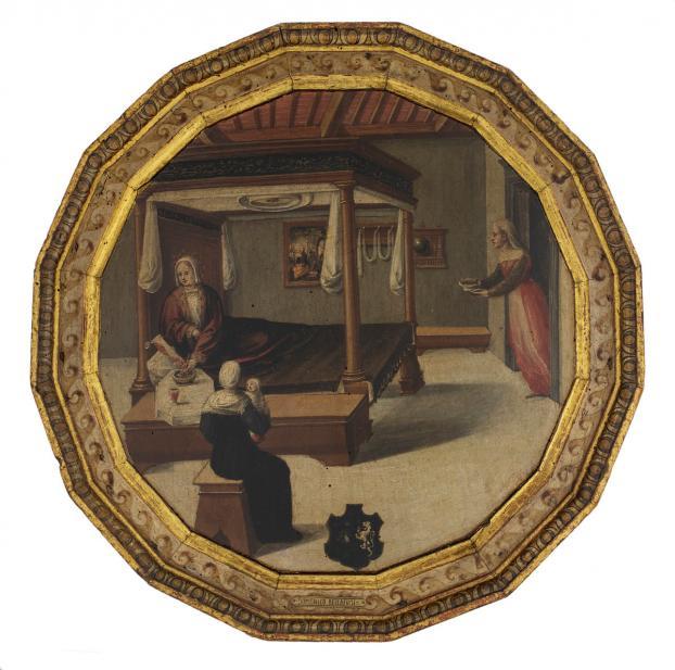Master of the Chigi-Saracini Desco (Italian, active ca. 1510-1540), Desco da Parto (Birth Tray), 1520-1540
