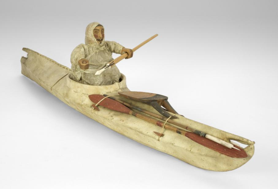 Maker unknown (Yupik), kayak model, 19th century