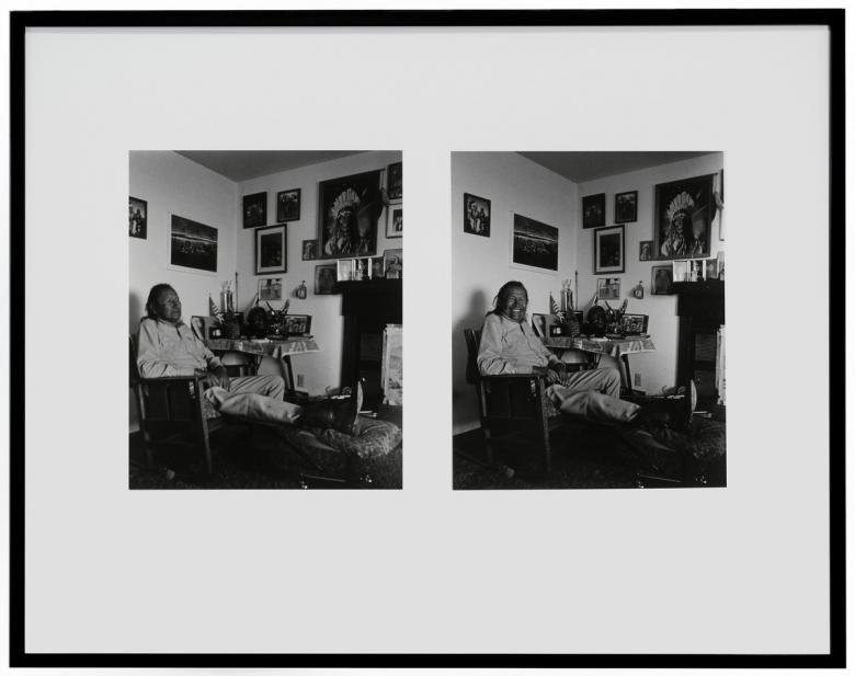 Zig Jackson (Rising Buffalo) (Mandan, Hidatsa, Arikara; American, b. 1957), Two Moons Stoic/Two Moons Smiling: Busby, Montana, 1991 negative / 2007 print